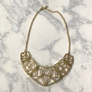 Gold Geometric Print Necklace